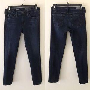 AG The Stilt Crop Dark Wash Jeans